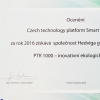 PTR technologie získala ocenění  za inovativnost na Czech technology platform Smart Grid Award